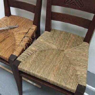 Rush Seat Weaving Repair  Replacement
