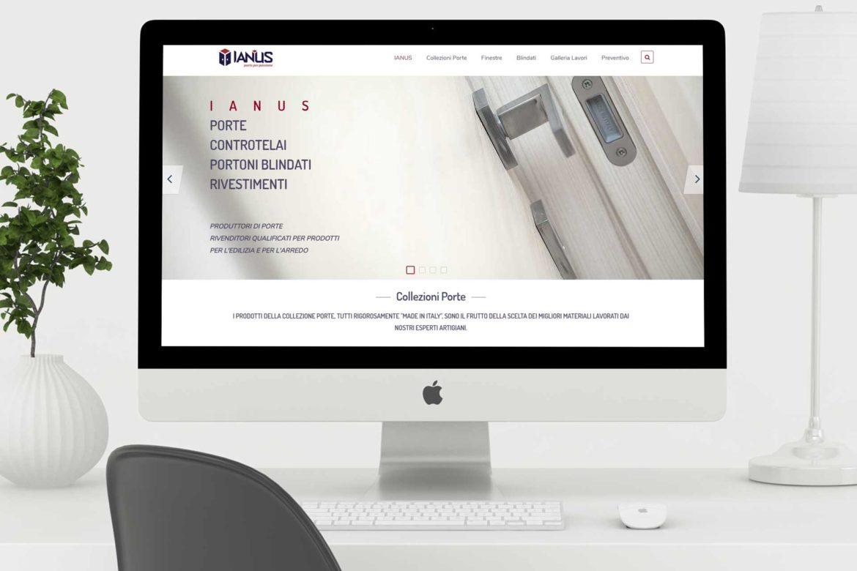 Sito web Ianus Porte realizzato da formeweb