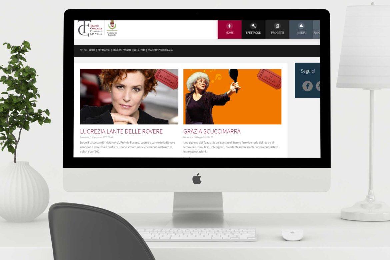 Sito web per il Teatro Comunale di Formello J.P. Velly