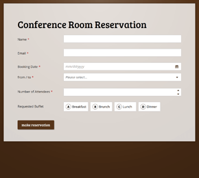 It also includes space for the conference room number, as well as the a slot for the week that the conference will take place. Form Templates Create Your Perfect Online Form