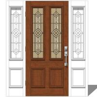 Jeld Wen Exterior Door Set 1 3D Model - FormFonts 3D ...