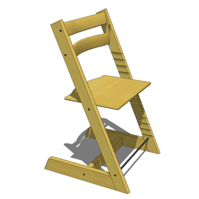 tripp trapp high chair swivel for nursery stokke highchair 3d model formfonts models textures