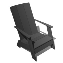 Chair Design Within Reach Desk Sale Adirondack Woodworking Plans And Ottoman 3d Model Formfonts Models Amp Textures