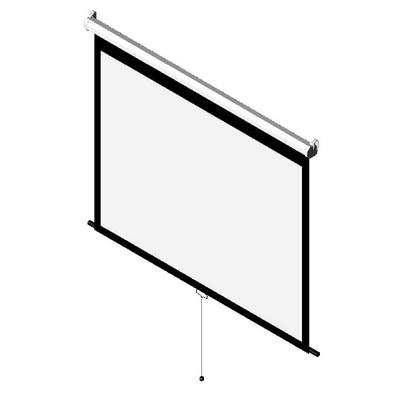 ManualScreen Model B HDTV Format Dalite 3D Model