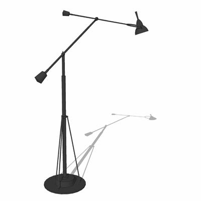 counterpoise task floor lamp 3d model  formfonts 3d models