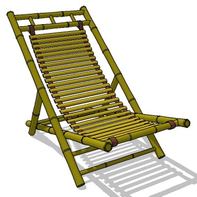 bamboo outdoor chairs papasan chair frame diy lounge 3d model formfonts models textures foldable