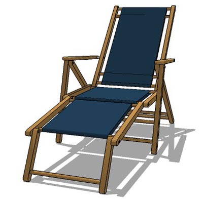 wooden frame beach chairs chair and half rocker recliner 3d model formfonts models textures foldable in canvas teak