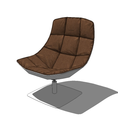 jehs laub lounge chair lift recliners lounger 3d model formfonts models textures in a choice of 4 leathers