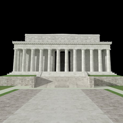 Lincoln Memorial 3D Model  FormFonts 3D Models  Textures
