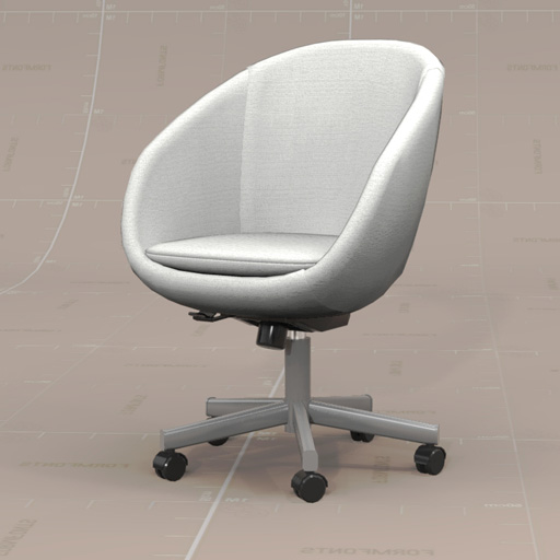 skruvsta swivel chair parker knoll dining chairs second hand 3d model formfonts models textures