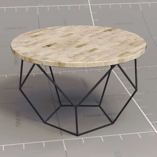 origami coffee table 3d model