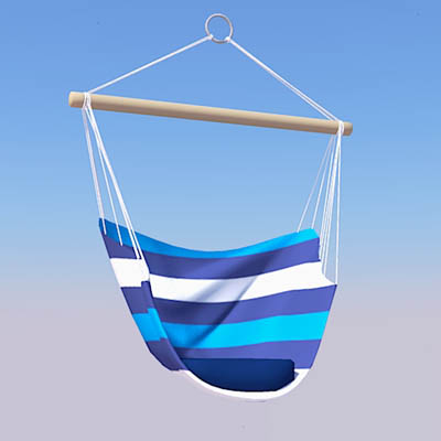 canvas sling chair with attached table hammock seat 3d model - formfonts models & textures