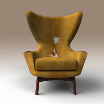 adrian pearsall lounge chair swivel for bathtub cowhide wing 3d model formfonts models textures iconic wingback