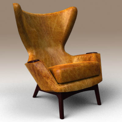 lounge chair living room furniture best wallpapers for in india cowhide wing 3d model - formfonts models & textures