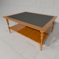 Williams and Sonoma Coffee Table 3D Model - FormFonts 3D ...
