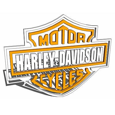 Harley Davidson Logo 3D Model FormFonts 3D Models Amp Textures