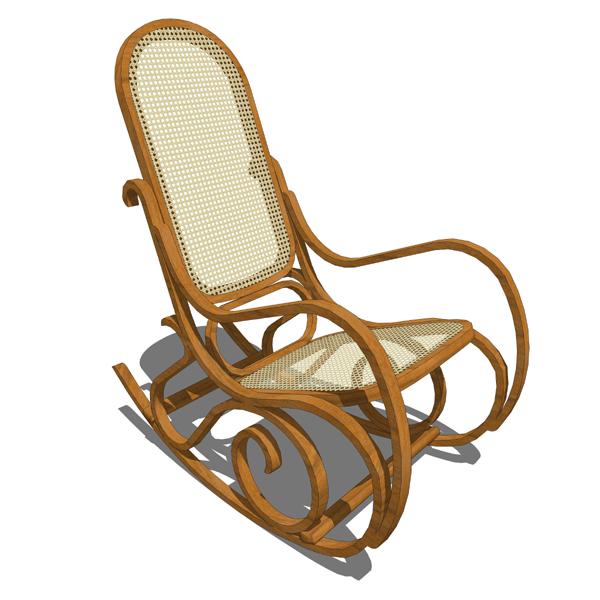 Rocking wicker chair 3D Model  FormFonts 3D Models  Textures