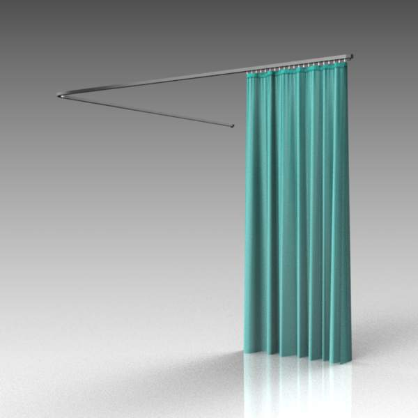 Hospital curtains 3D Model  FormFonts 3D Models  Textures