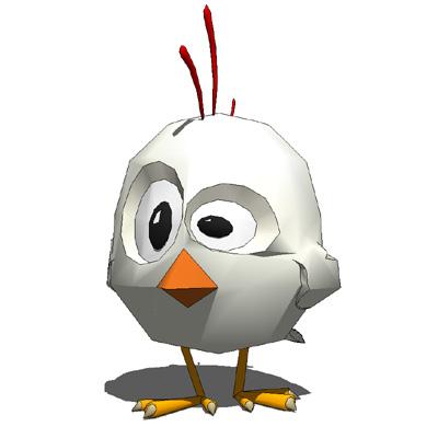 Chickens 3D Model  FormFonts 3D Models  Textures
