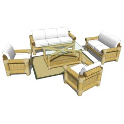 Bamboo Couch And Chairs Yellow Modern Dining Sofa Set 3d Model Formfonts Models Textures