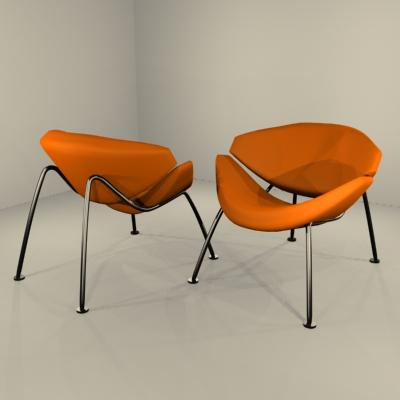 orange slice chair lift chairs for elderly by pierre paulin 3d model formfonts models