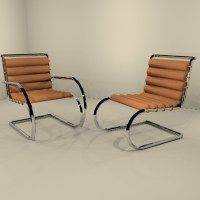 Knoll Studio MR Chaises Arms Optional 3D Model - FormFonts ...