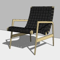Knoll Studio Jens Risom Lounge Chair 3D Model - FormFonts ...
