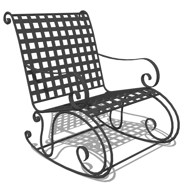 wrought iron rocking chair hanging stand white 3d model formfonts models textures