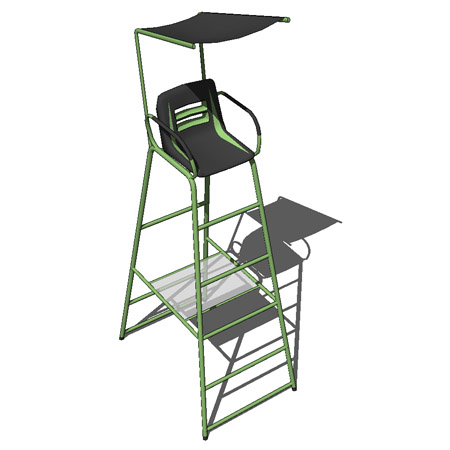 folding umpire chair chairs for sale tennis 3d model formfonts models textures used by referee on match