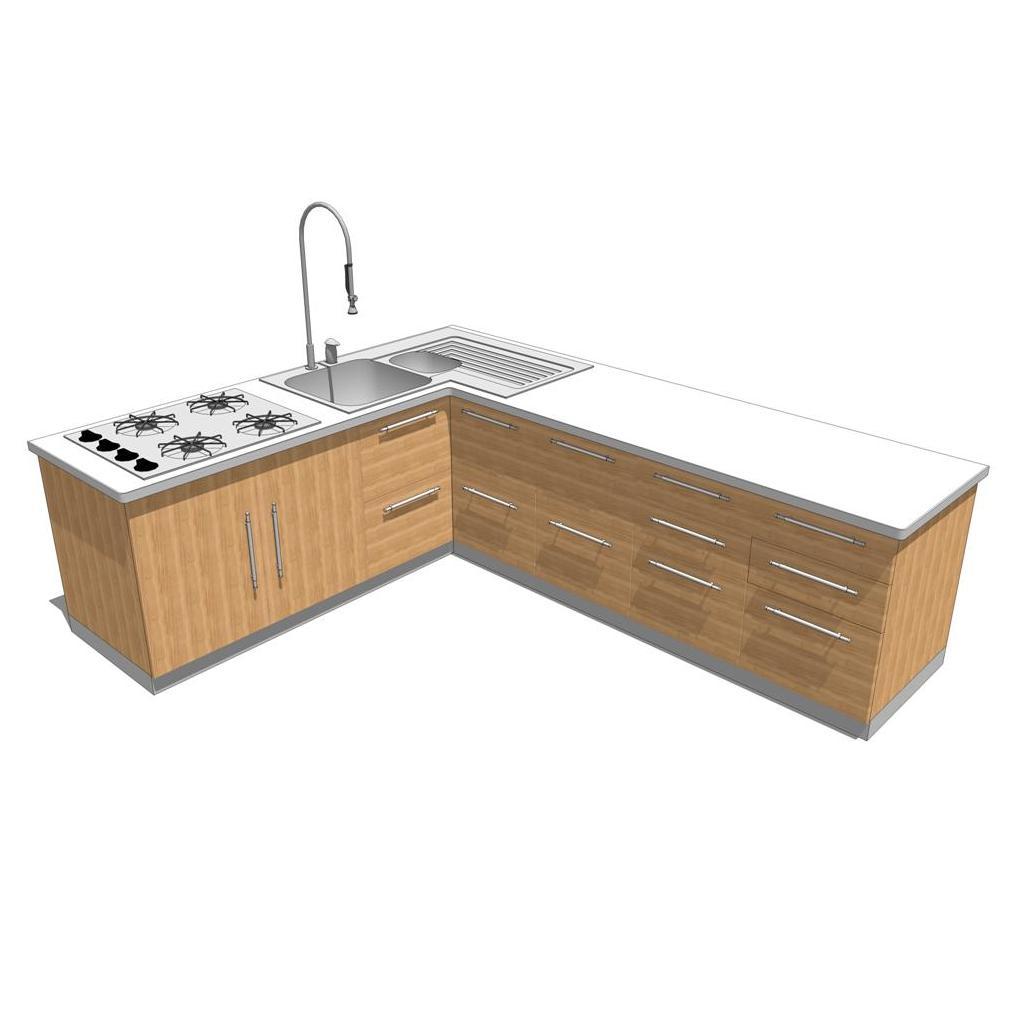 Best Kitchen Gallery: Doga Kitchen 3d Model Formfonts 3d Models Textures of Revit Kitchen Cabinets on cal-ite.com