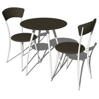 Adesso cafe table and chairs 3D Model - FormFonts 3D ...