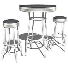 Retro Cafe Table And Chairs Inflatable Stools 3d Model Formfonts Models Textures This Set Complement