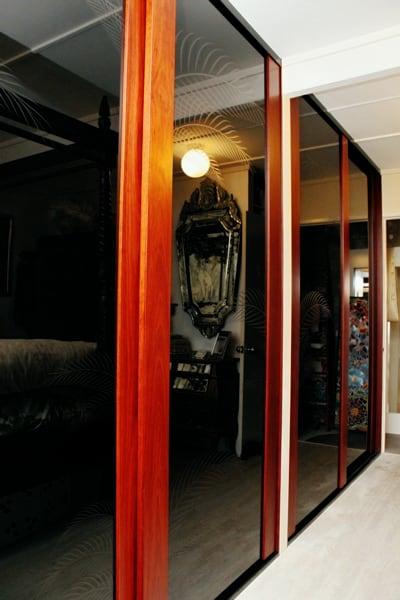 Timber Sliding Doors His & Her Wardrobe
