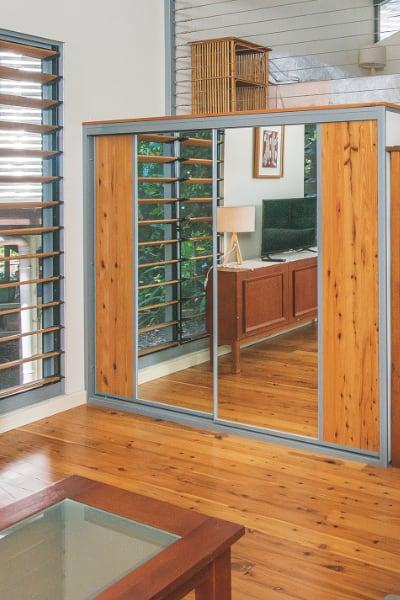 Recycled Floor Boards Sliding Doors