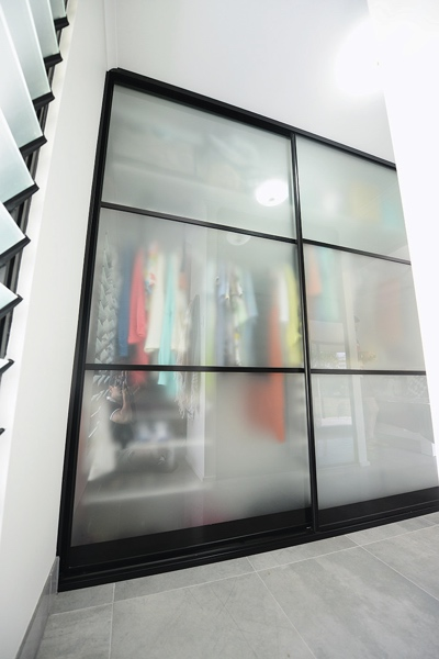 Frosted Glass 3 Panel Doors