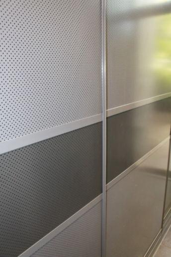 Mesh Laundry Cupboard Sliding Doors