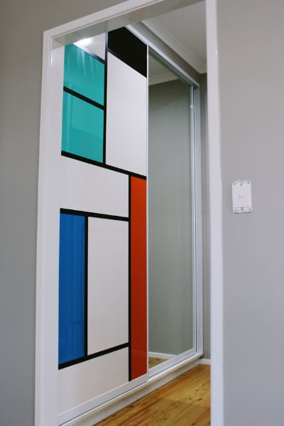 Walk In Robe Mondrian Inspired Doors