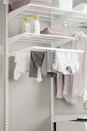 laundry shelving and drying rack
