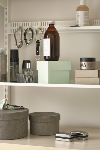 elfa bedroom utility shelving