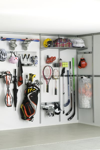 Garage wall Shelving