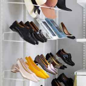 elfa shoe racks and hat racks