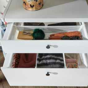 elfa decor pull out drawers and dividers