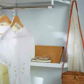 small wardrobe shelf walk in closet