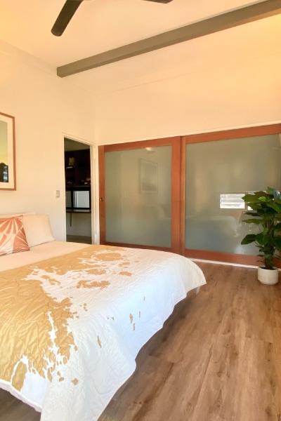 Bedroom Sliding Doors Queensland Pencil Cedar and translucent glass