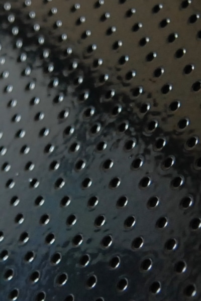 Closer View of Powder Coated Black Mesh used in ventilated Wardrobes