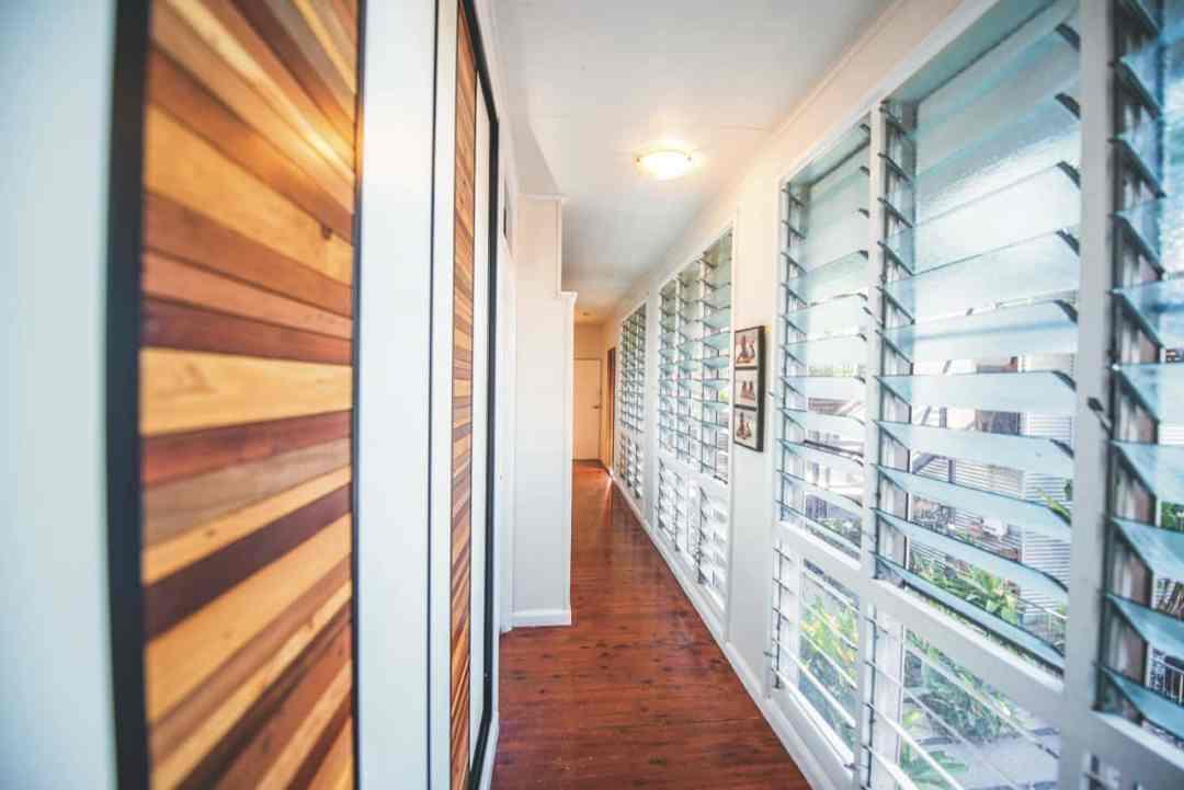 Hallway Cupboard Recycled Timber Sliding Doors