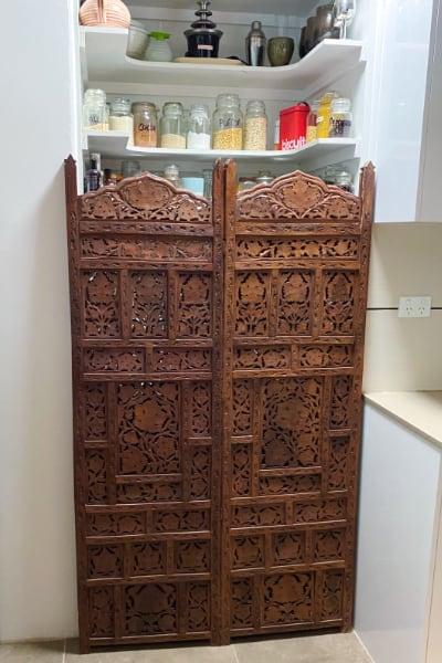Bali Screen Door before Fabriction to Top Hung Door