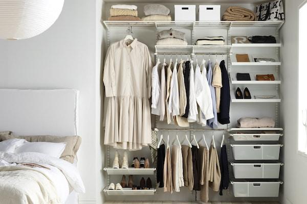 elfa built in wardrobe built in shelving