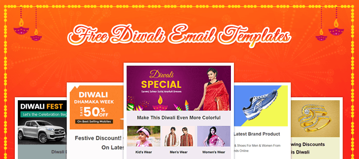 Diwali email template «holiday sale » for fashion industry. 5 Free Diwali Email Templates Increase Sales This Diwali 2018