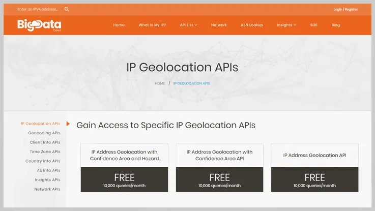 IP Geolocation By BigDataCloud Reviews. Pricing & Features 2020   FormGet